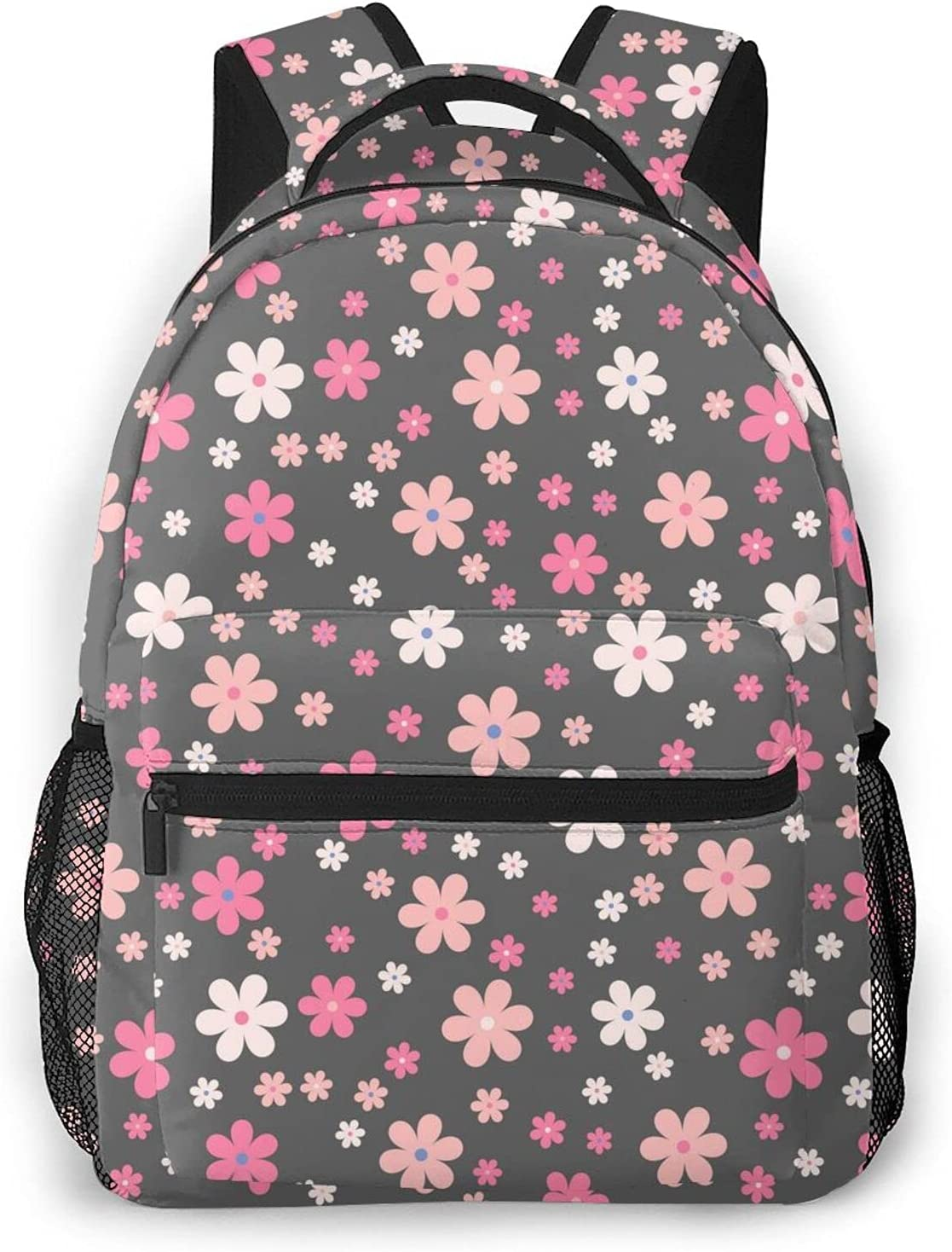 Pink Floral Print Custom Unique Casual Backpack Trave Bag All stores are sold School Selling rankings