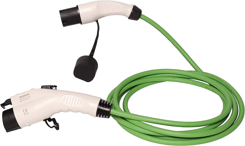Zencar Evse Ladekabel Für Elektrofahrzeuge Elektroauto Typ 1 Typ 2 16a 32a 7 2kw Grün 6 Meter Kostenlose Tragetasche 32a Auto
