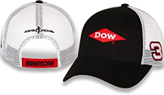 NASCAR Austin Dillon, Dow, Richard Childress Racing Team Collection Draft Trucker Adjustable Hat - Black/White/Red