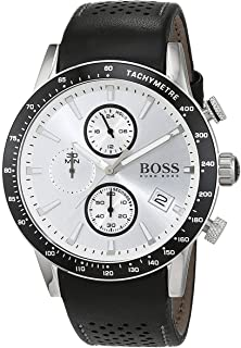 Hugo Boss Rafale Men's White Dial Leather Band Watch - 1513403