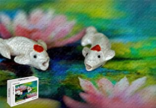 1000 Piece Jigsaw Puzzle - Rare Exotic Freshwater Fish for Sale Wooden Puzzle,29.5 X 19.6 Inch