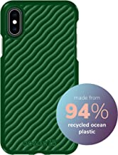 Ocean75 Eco-Friendly Designed for iPhone X, iPhone Xs Case, Ocean-Inspired Sustainable Phone Cover Made from Recycled Fishing Nets – Turtle Green