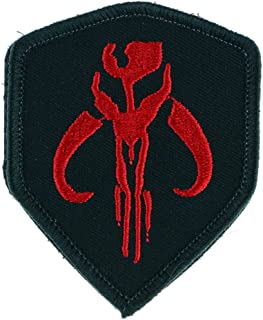LiZMS Tactical Patch : STAR WARS Mandalorian Bantha Skull Mercenary - Hook and Loop Fasteners