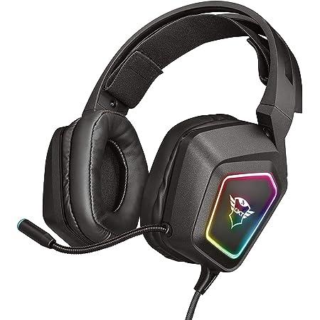 Trust Gaming GXT 450 Blizz Cuffie Gaming, Over-Ear con Illuminazione RGB e Suono Surround 7.1, Microfono Flessibile, per PC - Nero