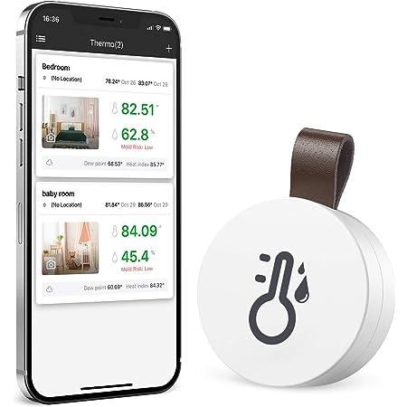 Brifit Termómetro Higrómetro Bluetooth, Termómetro Inalámbrico Digital con función de exportación de datos, Sensor de Humedad de Temperatura Interior preciso y Sensible, para Casa, Invernadero