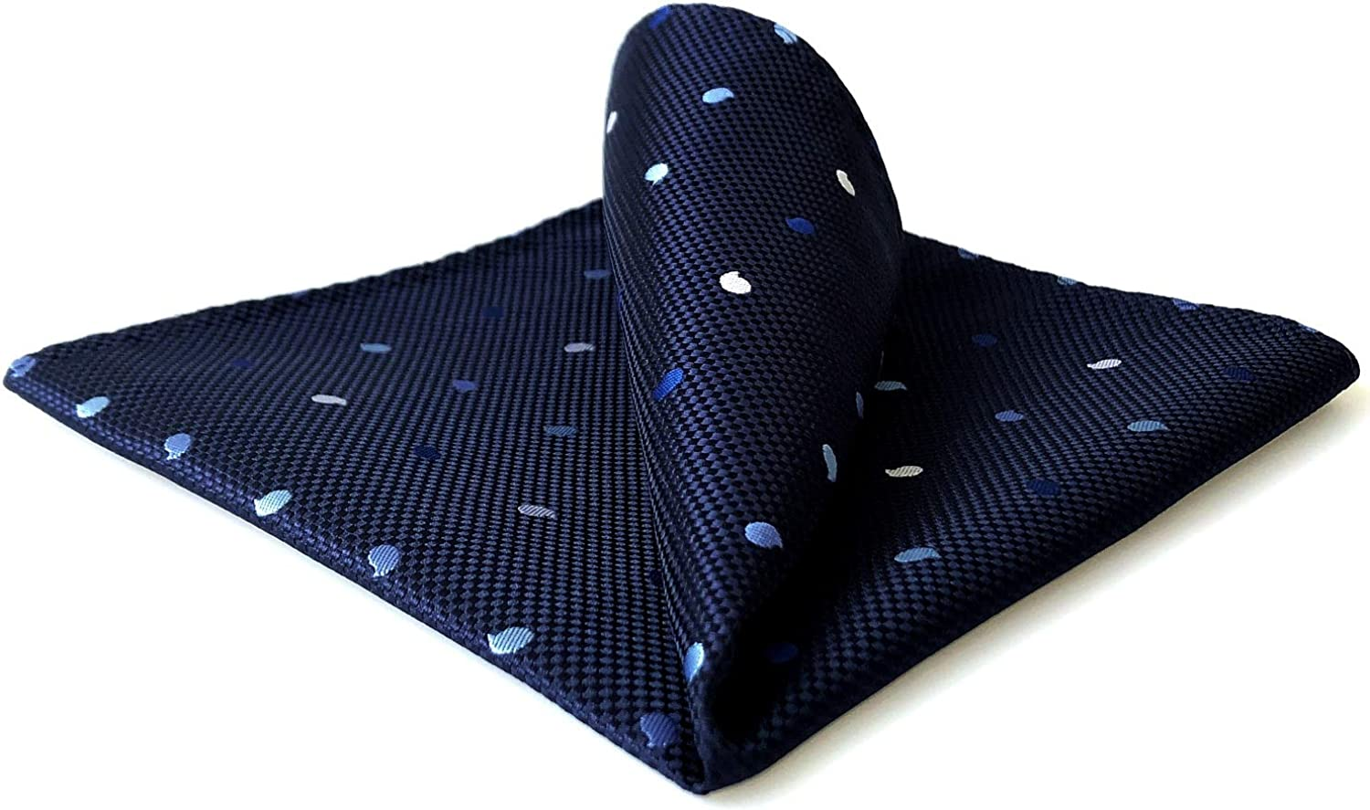 S&W SHLAX&WING Pocket Squares for Men Blue Navy Paisley