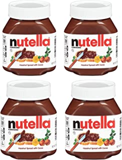 Nutella Ferrero Hazelnut Spread with Cocoa,7.7 Ounce (Pack of 4)