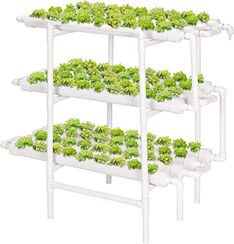 discount VIVOSUN Hydroponic Grow Kit, 3 Layers 108 sale Plant Sites 12 PVC Pipes Hydroponics Growing System with Water Pump, Pump outlet sale Timer, Nest Basket and Sponge for Leafy Vegetables outlet online sale