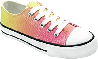 أحذية رياضية قماشية للبنات الصغار من لايف بيل، أحذية رياضية مصبوغة برباط للأطفال، خفيفة الوزن