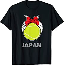 Japan Womens Tennis Top for Japanese Players, Fans or Coach T-Shirt