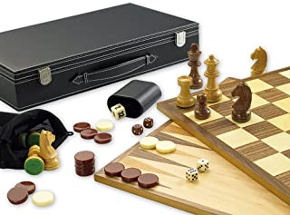 Gibsons G390 3 in 1 Games Set of Chess, Backgammon and Draughts