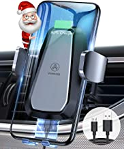 VANMASS Wireless Car Charger Mount, Qi Certification, Automatic Clamping, Fast Charging, Air Vent Cell Phone Holder for Car Compatible with iPhone 11 Pro Xs Max XR 8, Samsung S10 Note 10, LG V30, etc