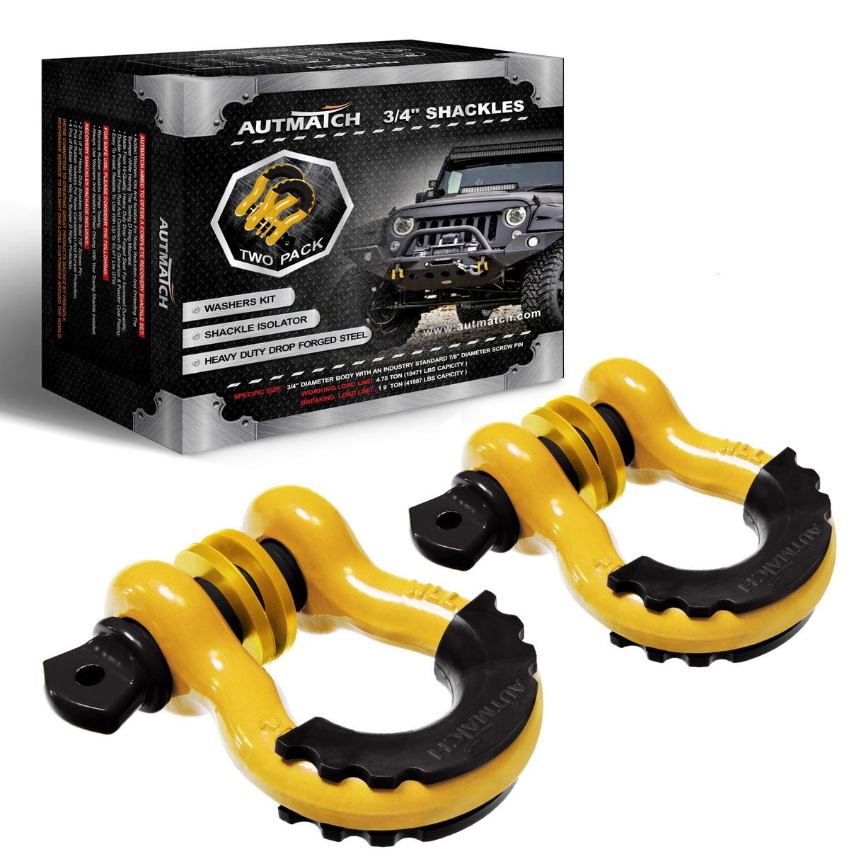 AUTMATCH Shackles Strength Isolator Recovery