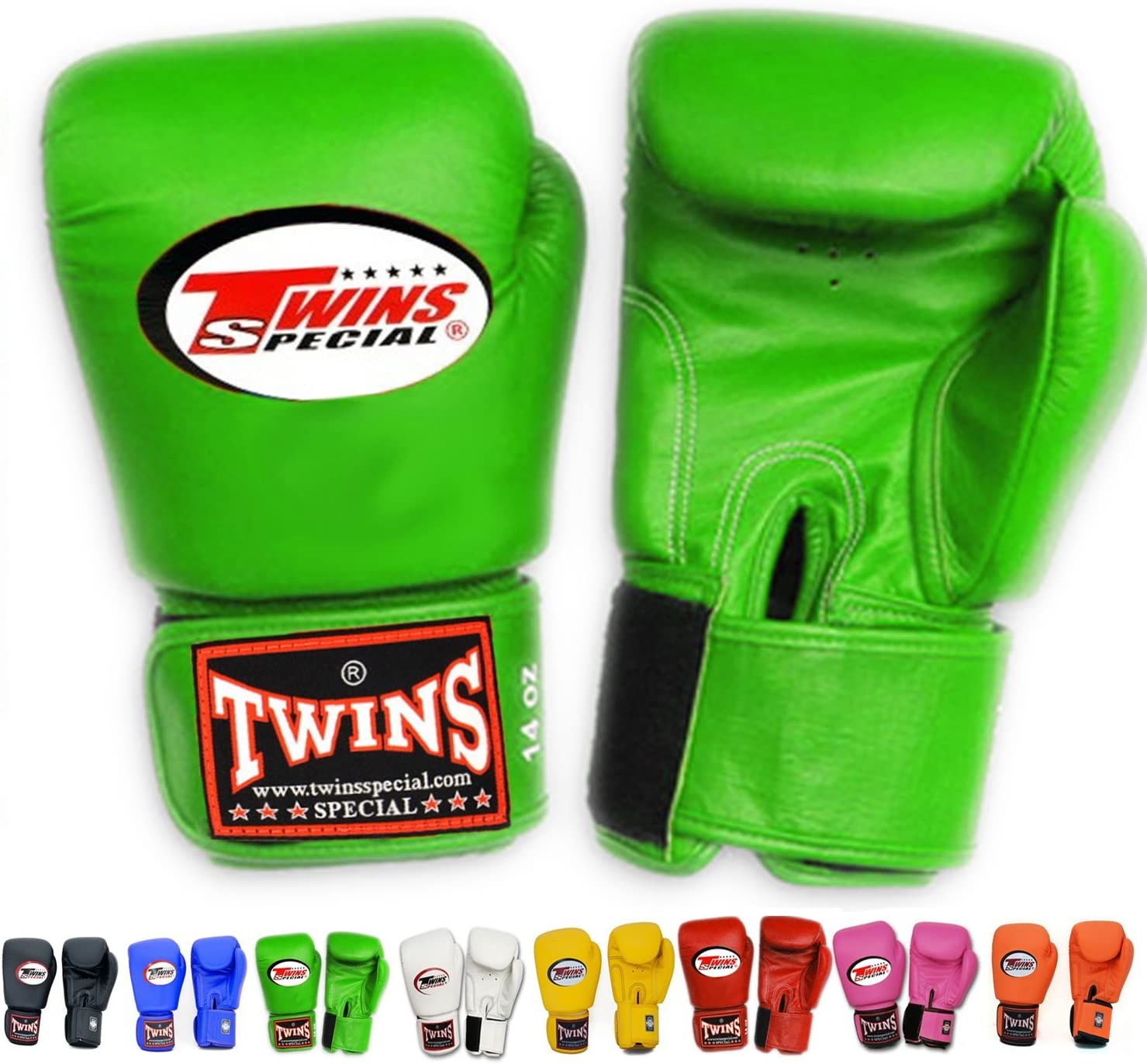 Twins Boxing Gloves FREE P/&P Boxing Green Muay Thai MMA