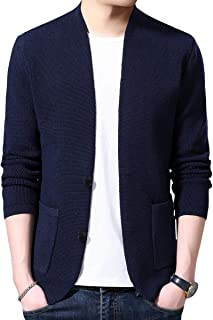 Mens Knitted Cardigan Sweater Warm Knitwear Button Closure Spring Autumn Outwear