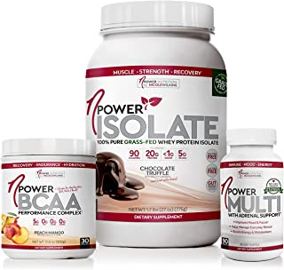 nPower Ultimate Chocolate Truffle Grass Fed Whey Protein, Peach Mango BCAA Collagen, and Multivitamin with Adrenal Support...