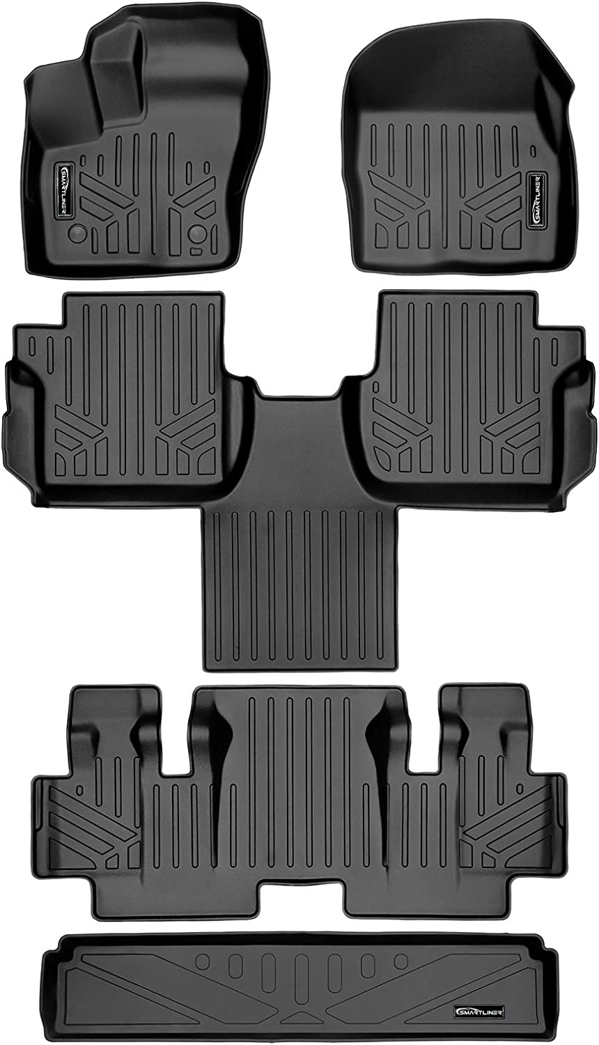 Price reduction SMARTLINER Floor Mats 3 Rows and Liner 3rd Cargo Behind Set Row Store