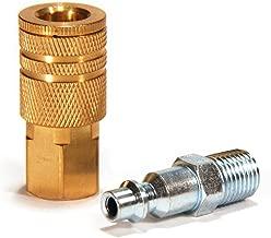 Primefit IK1001-2 1/4-Inch Industrial Brass Coupler Set with Male Plug, 2-Piece