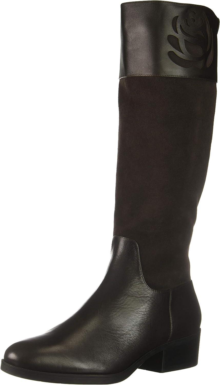 Taryn Rose Women's Georgia Knee High Boot, Chocolate, 5 M Medium US