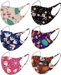 洗えるユニセックスメリークリスマススカーフ、时尚 脸部 透气性好 成人用 均码 可爱 Birthday (Multicolor)