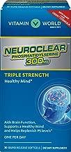 Vitamin World NeuroClear Phosphatidylserine 300 mg. 30 Softgels, Triple Strength, Replenish PS Levels, Brain Function, Healthy Mind, Gluten Free
