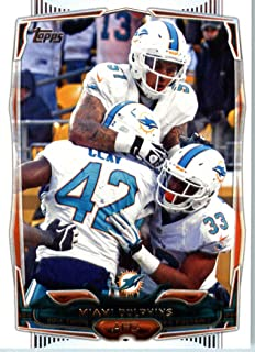 2014 Topps NFL Football Card #94 Miami Dolphins Team Card