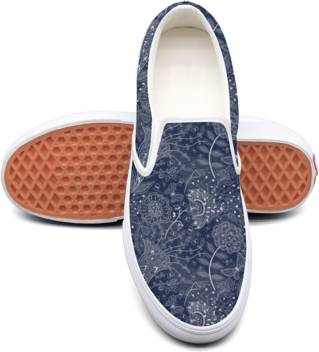 Hjkggd fgfds Casual Marigold Flowers On A Dark bluee Background Young Women Canvas shoes