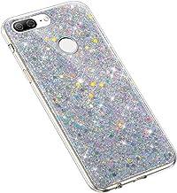 Uposao kompatibel med Huawei Honor 9 Lite skal flickig bling glitter glitter glänsande diamant paljett mjuk TPU gummi sili...