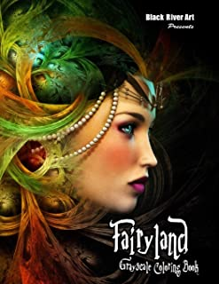 Fairyland Grayscale Coloring Book