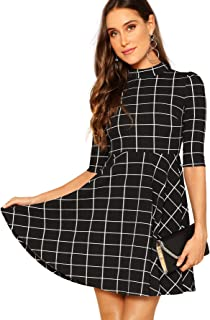 202f7ca895 Amazon.com: Plaid - Dresses / Clothing: Clothing, Shoes & Jewelry