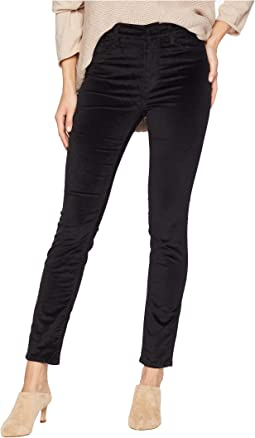 Barbara High-Waist Skinny Jeans in Black