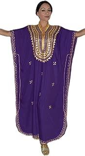 purple and gold kaftan dress