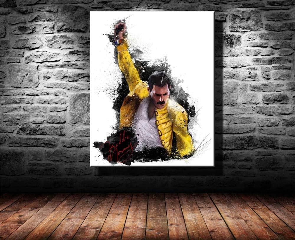 P/óster art/ístico de Freddie Mercury Queen y arte de pared impresi/ón moderna para dormitorio familiar