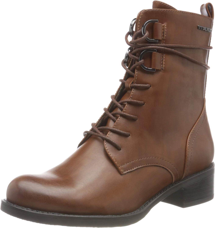 TOM TAILOR Women's 9096102 Mid Calf Boot, Cognac, 7.5 US