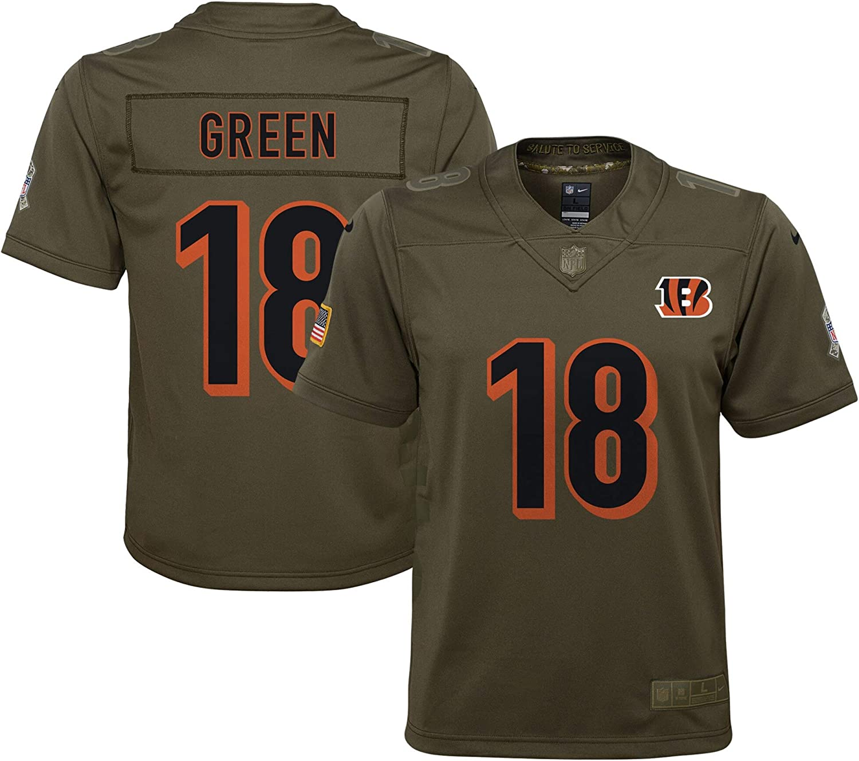 Nike Youth Cincinnati Bengals AJ Green #18 Salute to Service Player Jersey