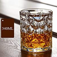 Syanka Classic Old Fashioned Whiskey Glasses Set of 6, Clear, 340 ml, Whisky Glass