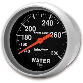 Auto Meter 1632 Old Tyme White Mechanical Water Temperature Gauge