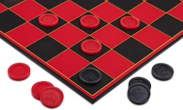 Point Games 2307 Checkers Super Durable Indoor/Outdoor Fun Board Game for All Ages, Black Red