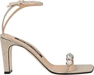 Luxury Fashion | Sergio Rossi Women A81092MFI1548181 Gold Leather Sandals | Autumn-winter 20