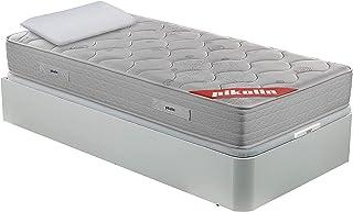 comprar comparacion PIKOLIN Pack Colchón viscoelástico de muelles 150x190+ canapé Base abatible Blanca y Dos Almohadas de Fibra