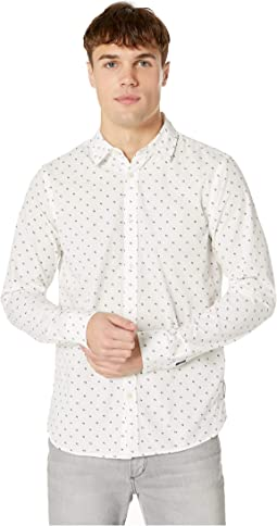 Regular Fit - Classic All Over Printed Poplin Shirt