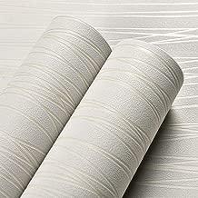ACCEY Papel pintado de textura de lino liso moderno Papel de pared de tela de hierba falsa Revestimiento de pared de paja tejida realista Gris beige gris/áceo @ D00206/_Brown/_10mx53cm