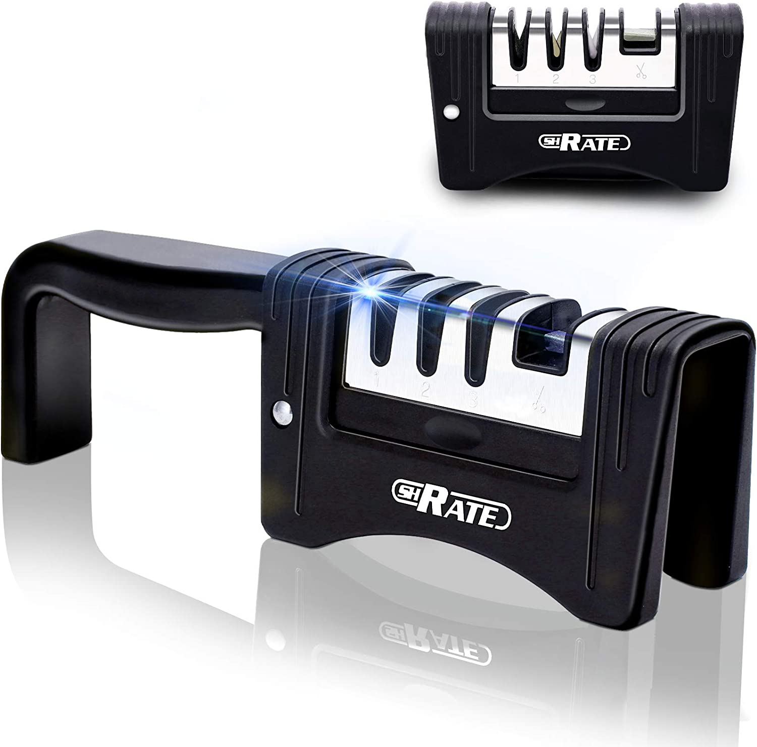 SHRATE Max 52% OFF Knife Sharpener 4-in-1 Manual Accessories Foldable Seattle Mall
