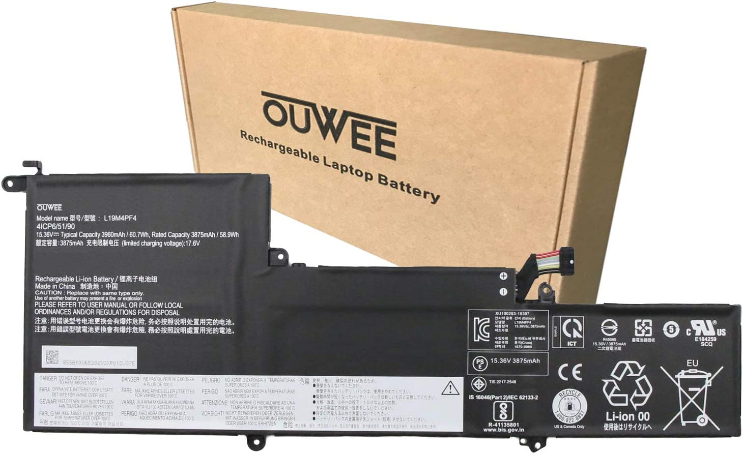 OUWEE L19M4PF4 Omaha Mall Branded goods Laptop Battery Compatible with Lenovo Yog Ideapad