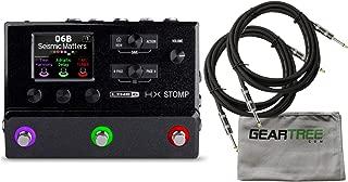 Line 6 HX Stomp Multi-Effects Helix-Based Processor Bundle w/Cables