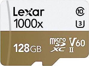 Lexar Professional 1000x 128GB microSDXC UHS-II Card w/ Adapter, Up To 150MB/s Read (LSDMI128CBNA1000A)