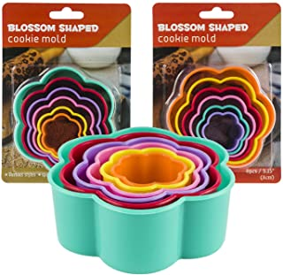 Blossom Shaped Cookie Cutter Set - 6 Count - Colors Vary