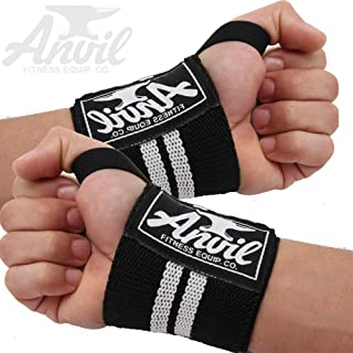 ANVIL FITNESS EQUIP. CO. Weightlifting Wrist Wraps - Pair of Adjustable Elastic Wrist Guard Straps Perfect for Bench Press,  Push Ups and All Pressing Movements,  Eliminate Wrist Pain and Lift Heavier!