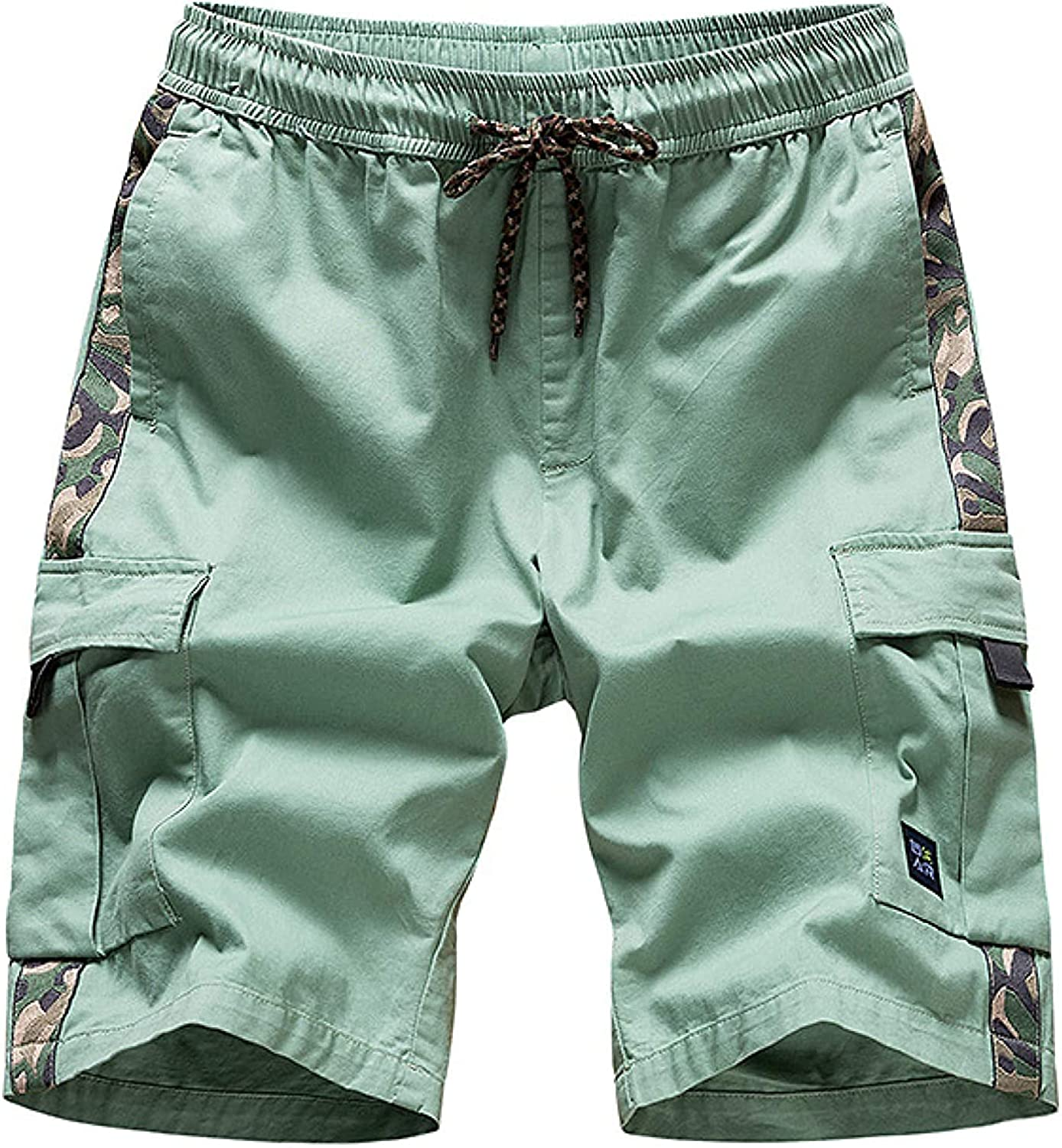 Men's Stitching Camouflage Cargo Shorts Fashion Trend All-Match Streetwear