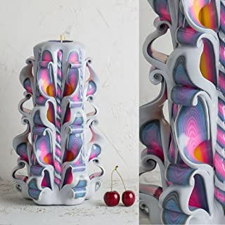 Candela per Compleanno Arcobaleno e Bianco, Ornamento Fatto e Decorato A Mano, Decorazione Gay Pride, Regali LGBT - EveCan...